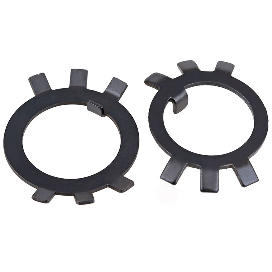 5/10/20Pcs GB858 Black Carbon Steel Lock Gasket Spacer M10 M12 M14 M16 M18 M20-M60 Lock Washer For Slotted Round Nut