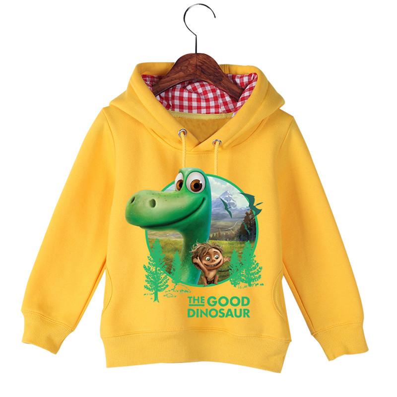 Jiuhehall High Quality Children\'s The Good Dinosaur Hoodies & Sweatshirts Autumn Winter Plus Velvet Boys Girls Hoodie GCM016 (3)