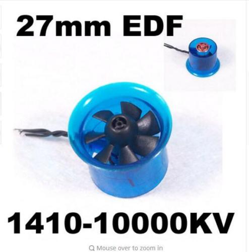 цена на HL2708 1410 10000KV Motor EDF 27mm Ducted Fan for RC Aircraft Airplane