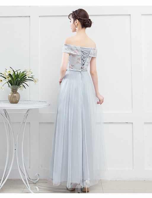Pesta Pernikahan Gaun Pengiring Pengantin Gaun Wanita Gaun untuk Pengiring Pengantin dari Bahu
