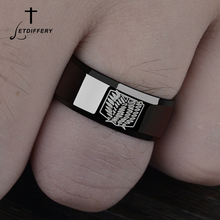 Letdiffery Titanium Anime Attack on Titan Rings Wings Of Liberty Flag Finger For Fans