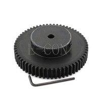 1pcs 1.5M60T 93mm OD 8mm/10mm/12mm/15mm/16mm/17mm/20mm/25mm Bore Hole 60 Teeth Module 1.5 Motor Steel Gear Wheel Top Screw