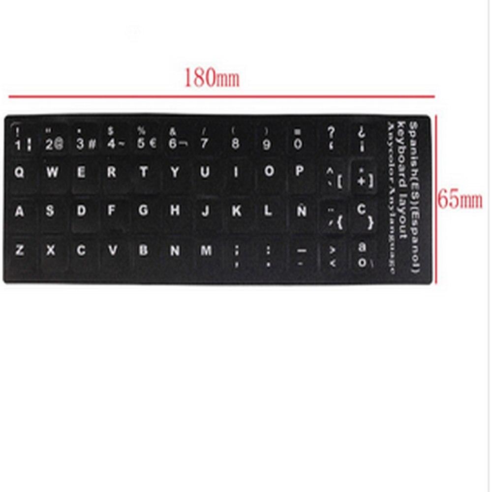 (10 Stücke) Schwarz Russland Letters Super Durable Russische Tastatur Aufkleber Alphabet Für Alle Arten Von Tastatur Kostenloser Versand