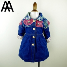 Clearance 2-6T Little Girls Clothes Jeans Coat For Autumn Winter Jeans Long Jacket For Children Kids Toddler Outwear