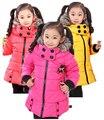 Chicas abajo niños de la capa cabritos de la capa outwear 3 colores muchachas del invierno chaqueta de Algodón acolchado oso del envío para el