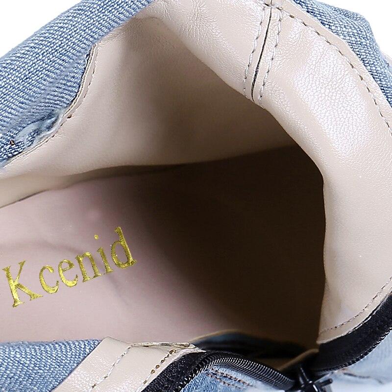 Femme Les Denim Automne Jeans Nouveau Kcenid De À Bout Light Bottes Cuissardes Sur Bleu Coupe Chaussures Pointu Mode Hauts Blue Talons wZqzFBq
