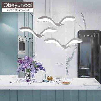 Qiseyuncai โมเดิร์น minimalist creative seagull ร้านอาหารโคมระย้าบุคลิกภาพห้องนั่งเล่นบาร์ art ห้องนอน