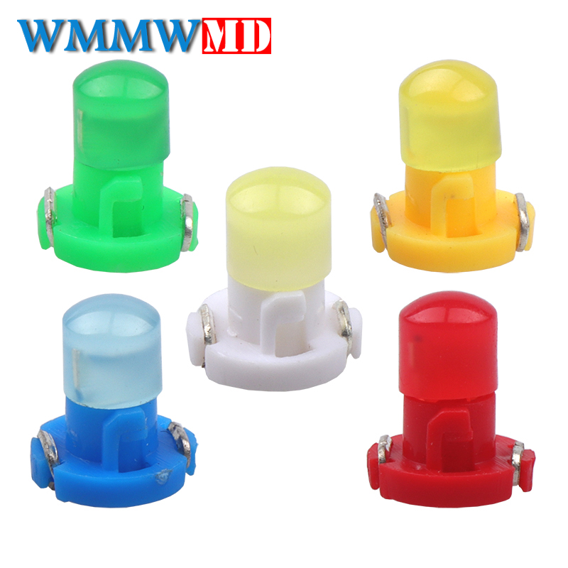 10PCS <font><b>T3</b></font> LED COB 1SMD <font><b>12V</b></font> Dashboard Winding Light Bulbs Warning Indicator Light Interior Light White Red Blue Green Yellow image