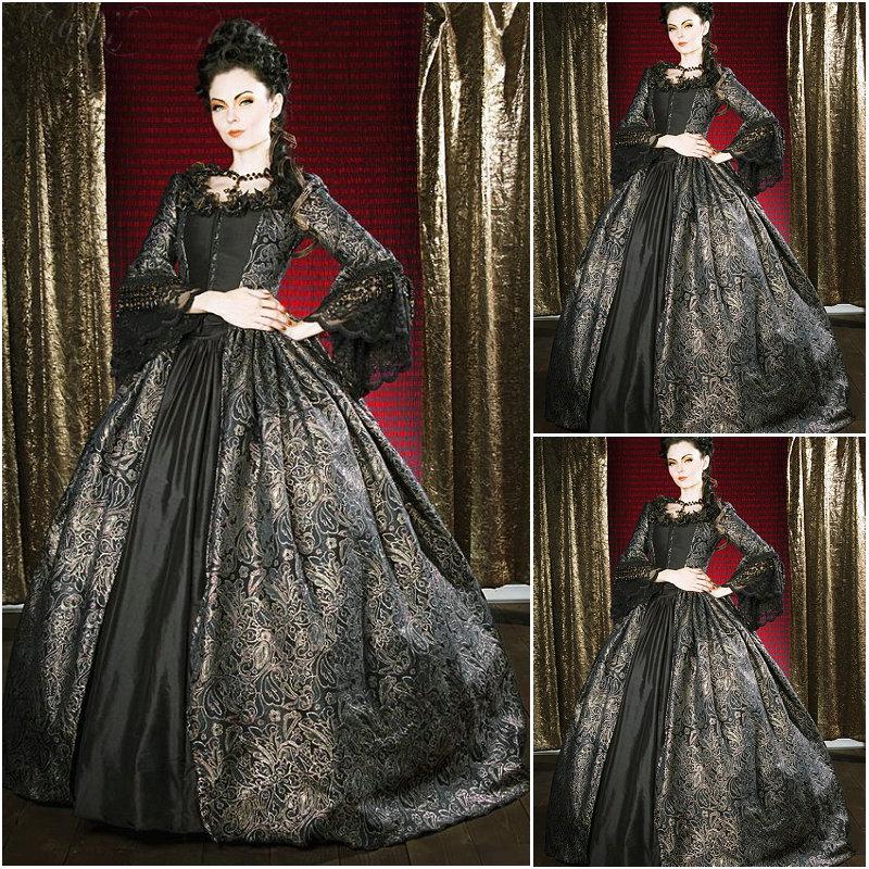 역사! 고객 만든 18 세기 vintage 의상 르네상스 dress 스팀 펑크 드레스 고딕 양식의