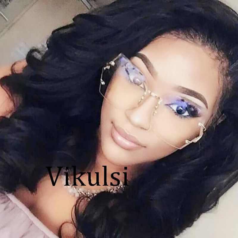 9519460bcc4 ... Oversized Transparent Cat Eye Sunglasses Women Brand Designer Rimless  Square Frame Clear Gradient Color Sun Glasses ...