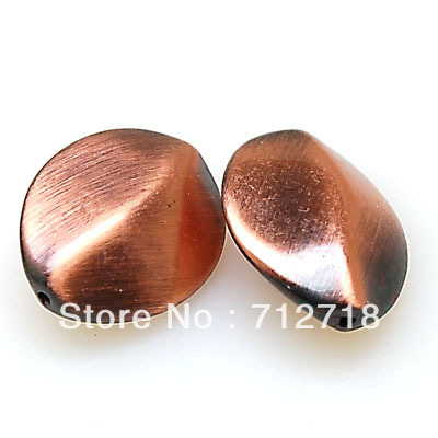 Bead,23x18x9mm Antique copper with Brush ancient effect plated CCB sold of 50 PCS(Min Order $20) ...