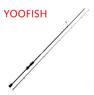 ФОТО YOOFSIH 1.8M 2Section top quality carbon Rings spinning Fishing Rod Power:UL Carbon Portable Lure Rods 2-6LB line weight