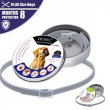 Dewel животное ошейник анти блох клещей ошейники для кошек и собак комаров открытый защитный Регулируемый отталкивает аксессуары для собак