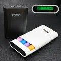 Tomo v8-4 inteligente exibição caixa de banco de potência 18650 carregador de bateria portátil caso powerbank 5v2a tomos para todo o telefone inteligente a88