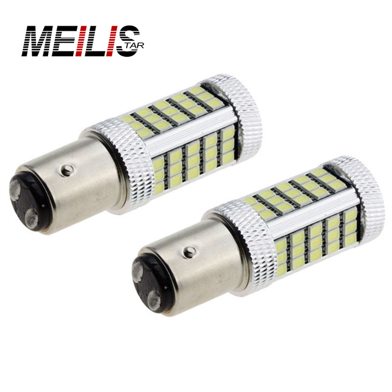2x 1157 BAY15D P21/5W 66 SMD 2835 LED Red White Car Tail Bulb 21/5W Brake Lights auto Fog Lamps Taillights DRL White Yellow Red 5pcs 1157 led bulb high quality 5 arms expandable 40 smd red auto xenon bay15d brake light bulb lamps for ford focus car styling
