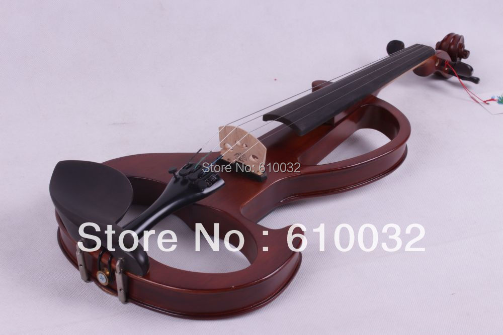 4/4 Electric Violin Solid wood 6 --21# silvery  Brown  color  4 string 4 4 electric violin solid wood 4 1 silvery blue red color 4 string