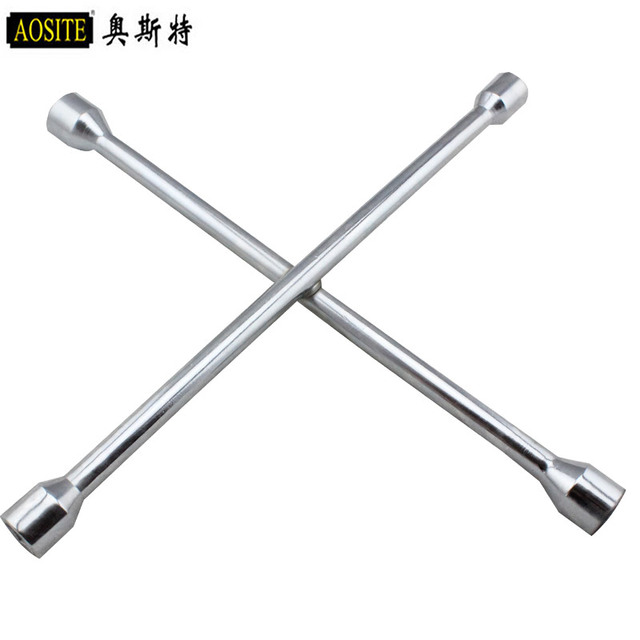 Chrome Vanadium Steel For Automobile Tire Wrench Cross To Change Tires Maintenance Effort Dismantle 14 Inch 16