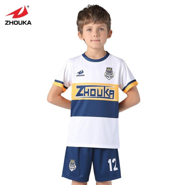 f8bde2ba55b Zhouka Soccer Jersey Goalkeeper Shirt Pants Survetement Football 2018 2019  Training Uniform Suit Kids Breathable Kits