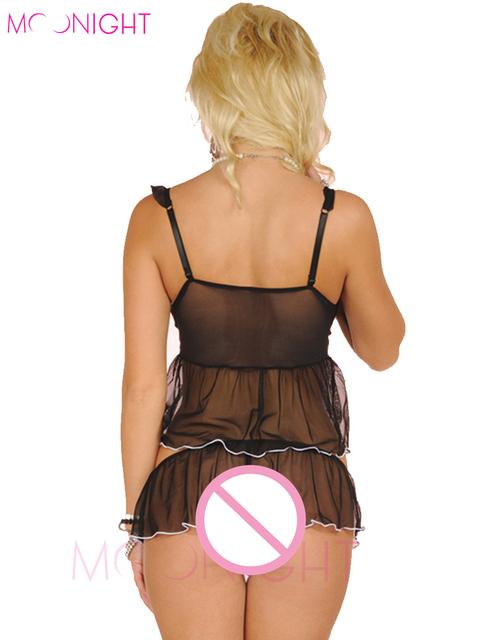 MOONIGHT Sexy Underwear 2017 Comfortable Lingerie Sleepwear Cute Panties Baby Doll Sexi Woman Lingerie