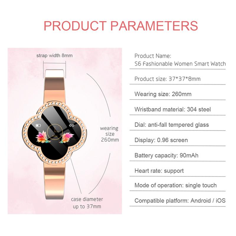 Women Smart Watch Sports IP67 Luxury Blood Pressure Heart Rate Monitor Fitness Tracker Gifts For Mother Girlfriend Android iOS in Women 39 s Watches from Watches