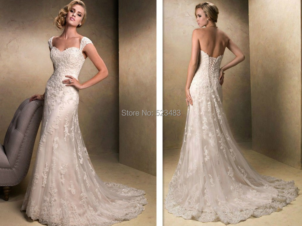 2017 Vestiodos New Style Ivory White Long Lace Mermaid Trumpet Bridal Gown Wedding Dresses Size 4 6 8 10 12 14 16w Free Shipping On Aliexpress Alibaba