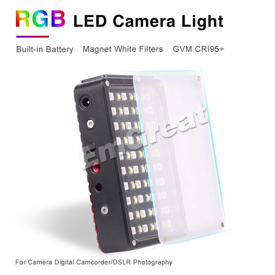 Image 2 - GVM RGB 7S Portable Pocket RGB Full Color LED Video Light CRI 95 