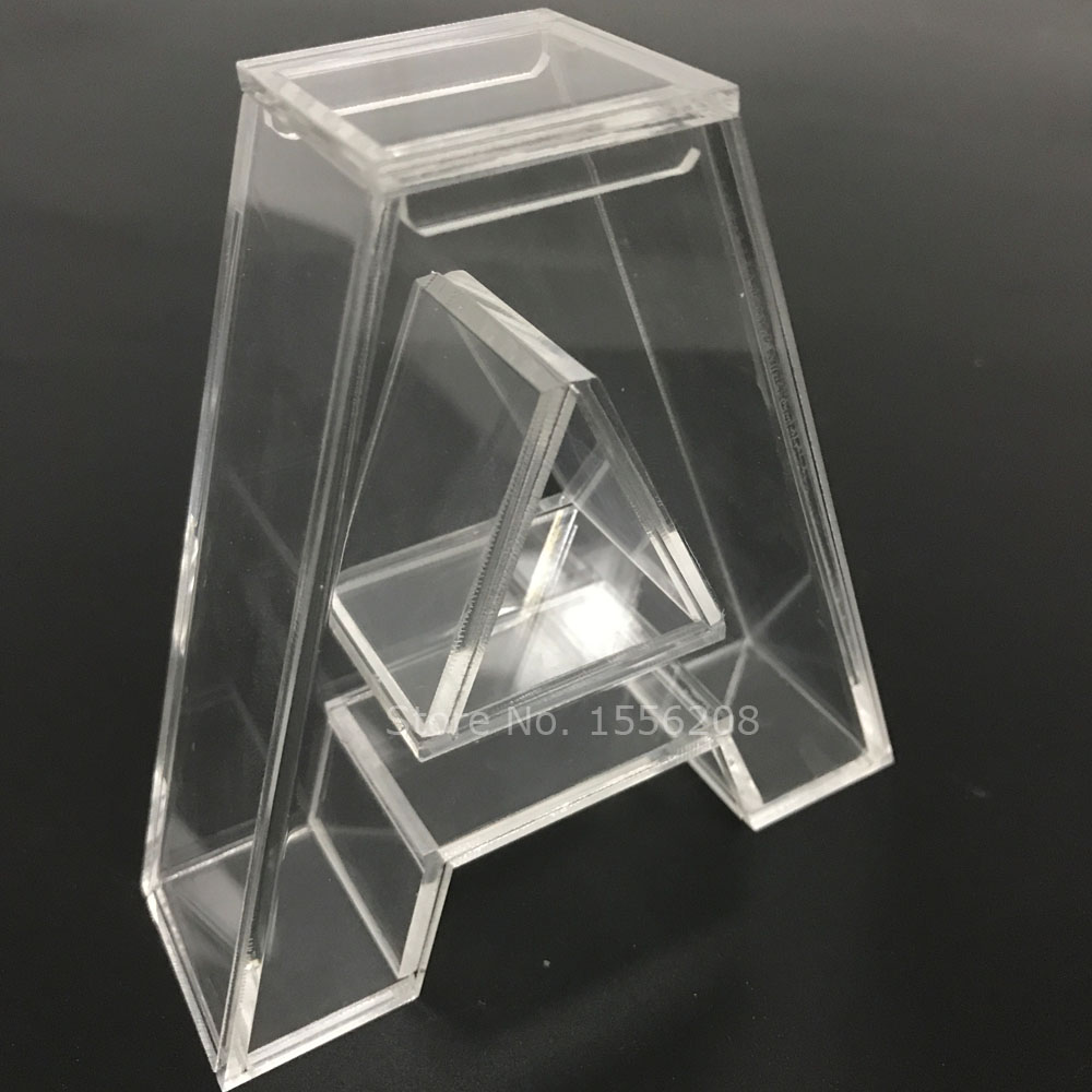Freestanding Acrylic Fillable Letter A English Alphabet Small Collection Gift Box Wedding Party Room Table Decoration Crafts