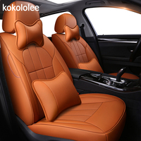 kokololee Custom real leather car seat cover for Lincoln MKZ car accessories seat covers full set leather car seat cover auto