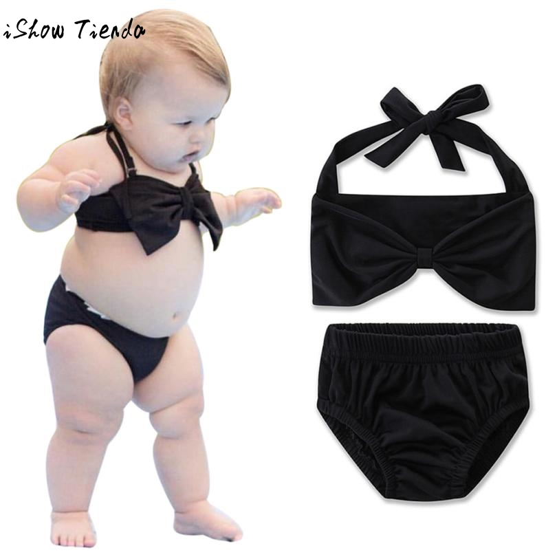 Drop Shipping Bikini Set 2017 Toddler Baby Kids Girls Solid Swimwear Bathing Suit Clothes Junior Girls Swimsuit Bikiny