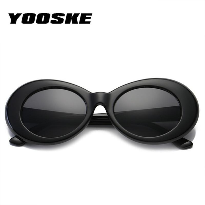 YOOSKE ผู้หญิงผู้ชายแฟชั่นนิพพานเคิร์ตโคแว่นกันแดดอิทธิพลแว่นตาหญิงชายอาทิตย์แว่นตา O Culos Kurt Cobain UV400
