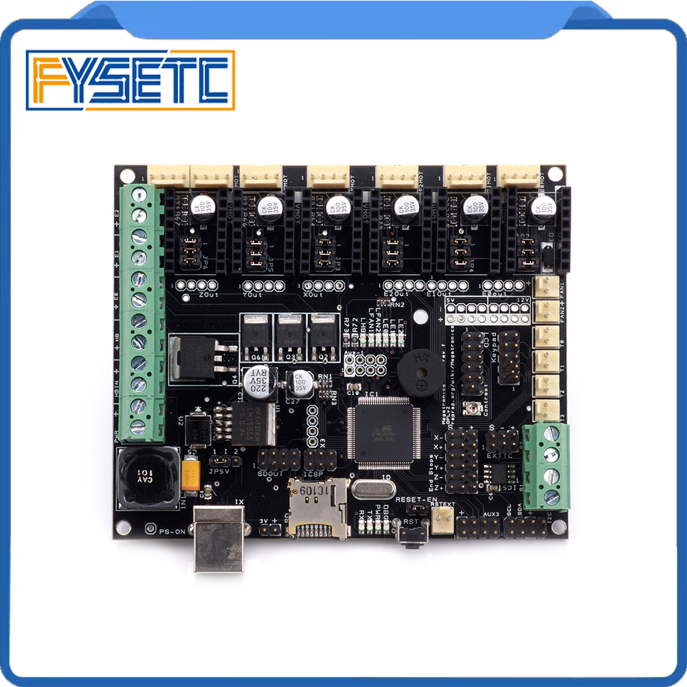 3D Printer Motherboard Megatronics V3 Control Board With Welding AD597 Chip and Data Cable 3D Printer Parts Free Shipping free shipping high quality 3d printer dual extruder module with thermistor for v3 6 board 3d0114