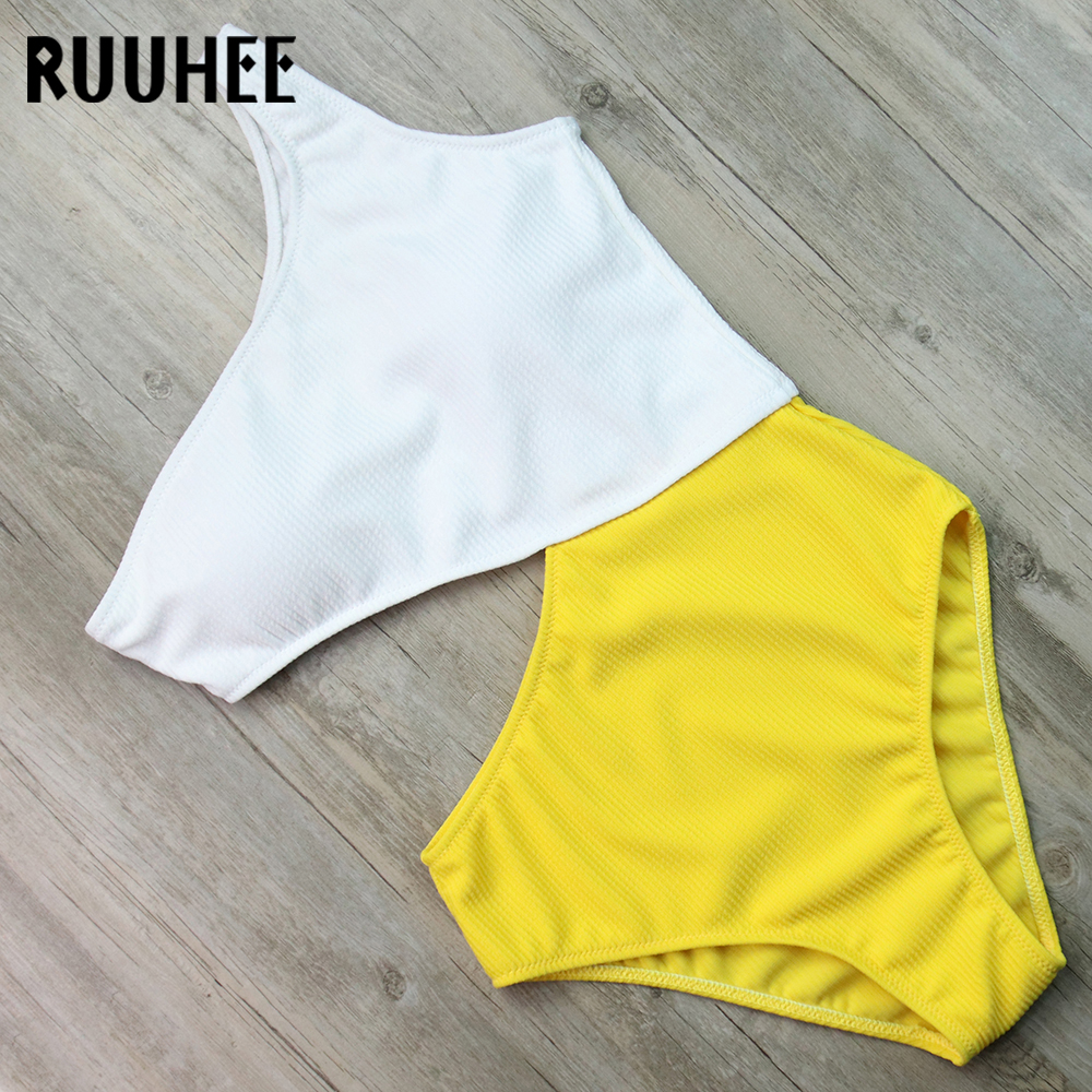 RUUHEE One Piece Swimsuit Swimwear Women Bodysuit One Shoulder Bathing Suit Swimming Suit Female Beachwear 2018 Bikini Monokini female summer beach bikini women swimwear one piece swimsuit bathing suit stripe swimming pool bodysuits woman tank suit maillot