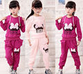 Kids Girls Autumn Clothes Set Baby Girls Kids Long Sleeve Bowknot Hoodies Sportswear Girls Casual Clothes Sets Outfit RSP