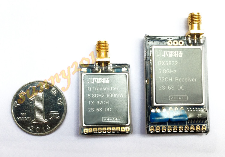 ФОТО 5.8G 600mW 32CH 2s 6s DC Image Transmission and RX5832 Receiver For Multicopter FPV
