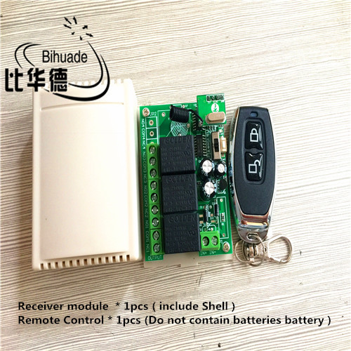433Mhz Universal Wireless Remote Control Switch DC 12V 10A 3 Channel Relay Receiver Module and 1pcs RF Remote 433Mhz Transmitter image