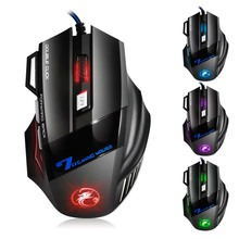 2019 New Professional Wired Gaming Mouse 7 Button 5500 DPI LED Optical USB Computer Gamer Mice Silent Mute Mause for PC