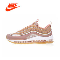 Original New Arrival Authentic Nike Air Max 97 OG Gold and Silver Bullet Women's Running Shoes Sport Outdoor Sneakers 918890 001