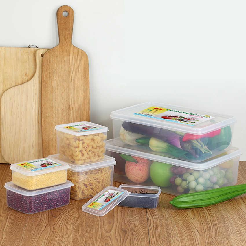 Multifunções Transparente Selado Conjunto Mais Nítidas Moistureproof Cozinha Caixa De Recipientes De Armazenamento De Alimentos de Plástico com o logotipo