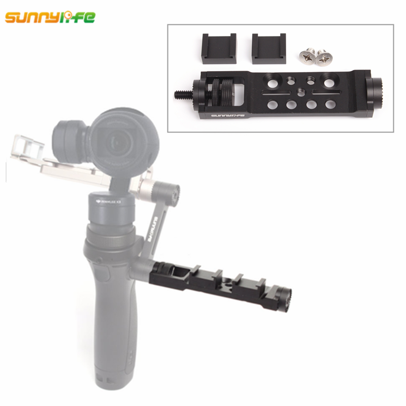 Sunnylife DJI OSMO Accessories Adjustable Accessory Pro Universal Mount Frame Bracket Holder for DJI OSMO Mobile Handheld Gimbal original dji osmo parts osmo universal mount add an extra microphone or an led light to your osmo