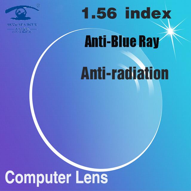 ZBZ Personalizado 1.56 índice Anti Azul Gafas de Equipo Singel Focus Hombres Mujeres Lente Óptica Lente de la Prescripción de Gafas