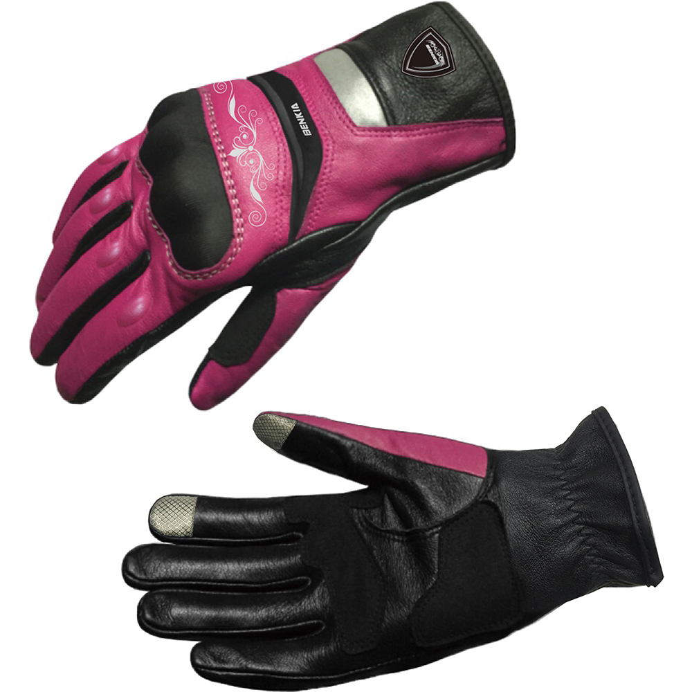 Motorcycle gloves pink - Benkia Touch Screen Leather Racing Gloves Motocross Gloves Women S Motorcycle Racing Gloves Black And