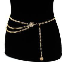 Модный женский пояс на талию соблазнительная цепочка в стиле