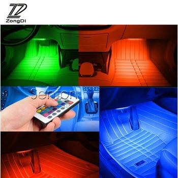 zd 7 kleur auto styling interieur decoratieve lamp led verlichting strip voor mercedes w203 w211 w204 w210 benz bmw f10 e34 e30 f20 x5 e70
