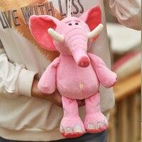 Carino peluche elefante fortunato giocattolo farcito elefante rosa cuscino regalo di circa 35 cm