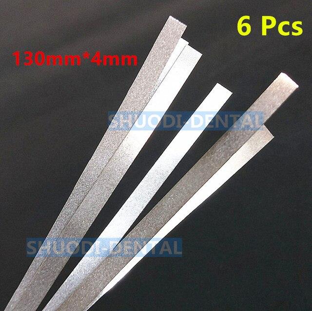 6 piezas Dental pulidora de Metal palo tira con una sola D de alúmina-en superficie de lijado 130mm * 4mm