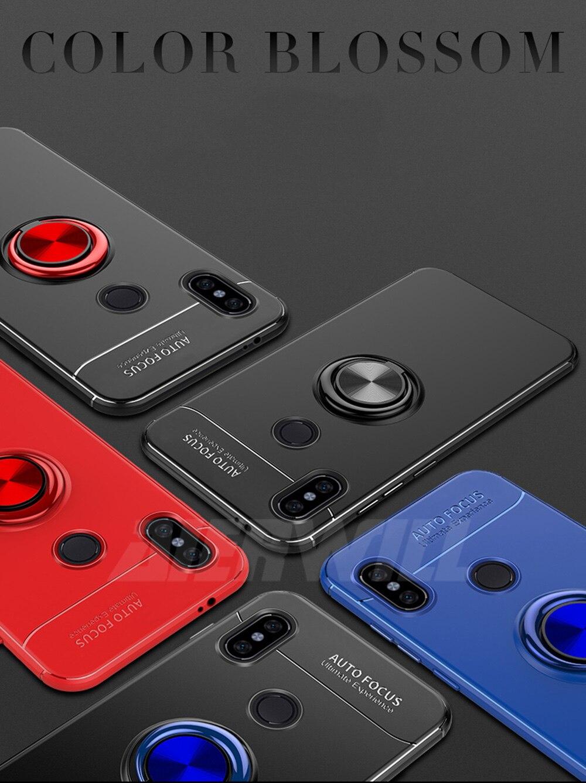 Armor case For Xiaomi Mi Max 3 Case Protective Bumper Finger Ring Holder Soft Silicone Matte Back Cover For Xiaomi max 3 Cases
