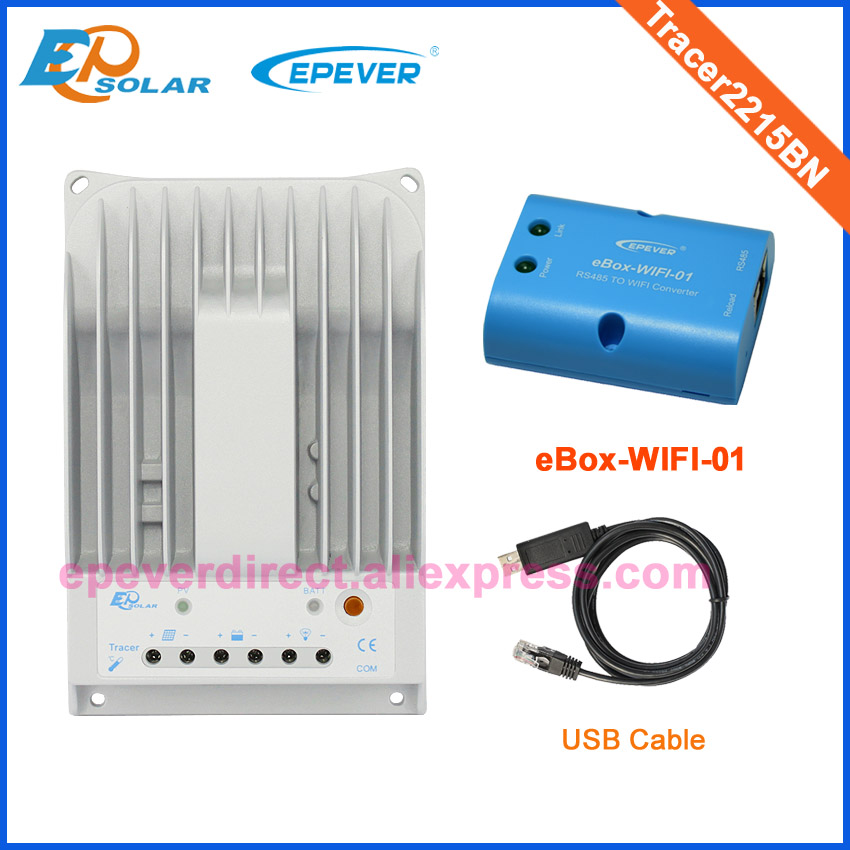 High quality and low price to AU and US Tracer2215BN solar controller eBOX-Wifi-01 USB cable commmunication 20A battery chargerHigh quality and low price to AU and US Tracer2215BN solar controller eBOX-Wifi-01 USB cable commmunication 20A battery charger