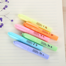 36 pcs/Lot Nature Fluorescent color highlighter marker pen Kawaii animal drawing gifts for kids Office School supplies FB949