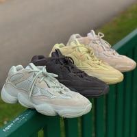 Wholesales Kanye West Salt Desert Rat 500 Blush Nomal Moon Yellow Utility Black Luxury Dad Shoes Designer Running Sneaker Sports