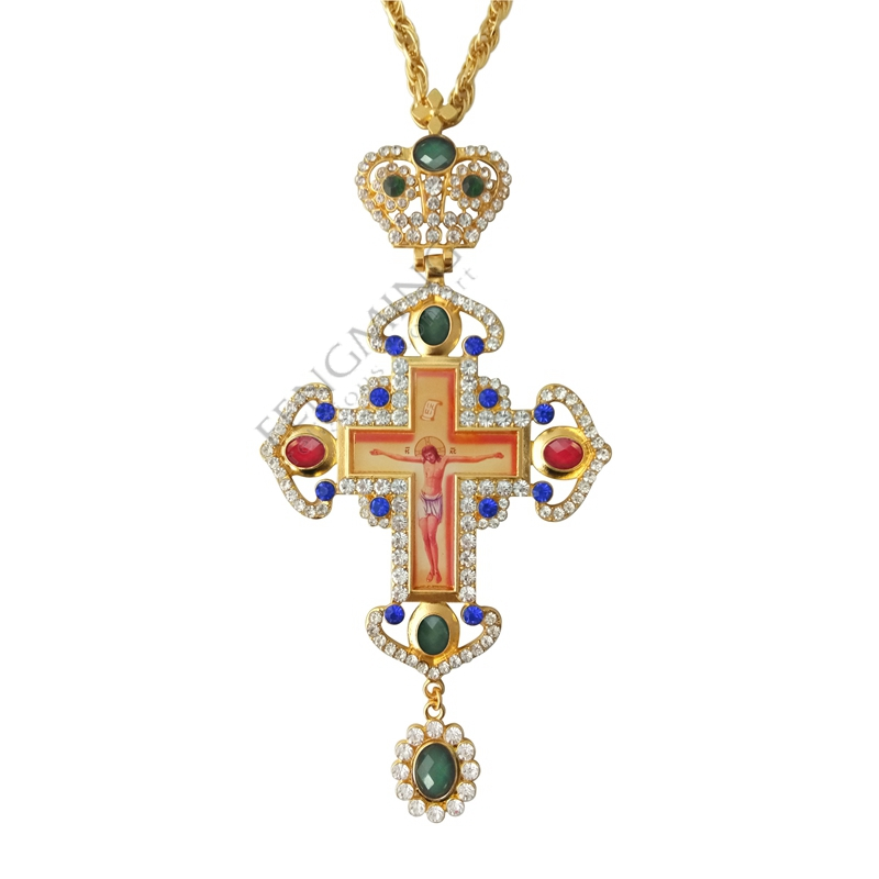 гръден кръст православен Исус - Декор за дома - Снимка 2